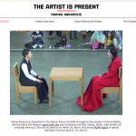 The gaze - sitting with Marina Abramovic April, 2010, MoMA, NY.