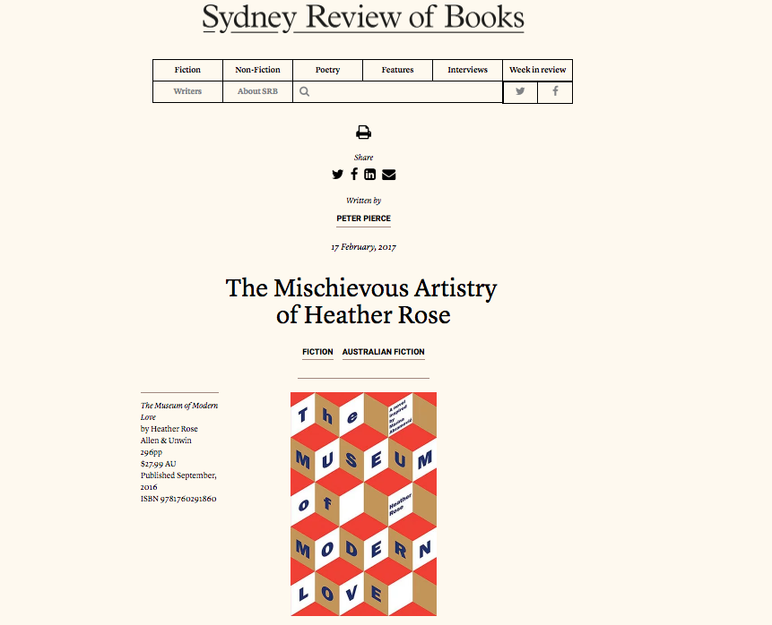 Sydney Review of Books Feb 17